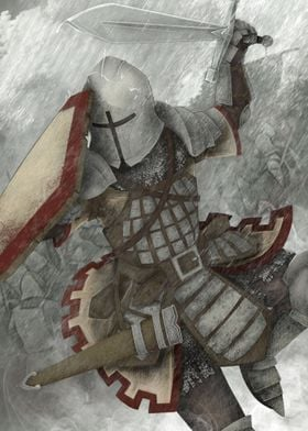 The knight attack