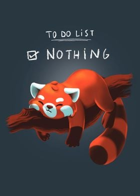To Do List Nothing panda