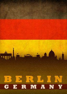 Berlin Germany City Flag