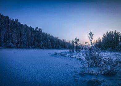Finland  Lappland Winter