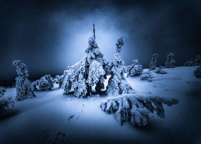 Finland Lappland at night