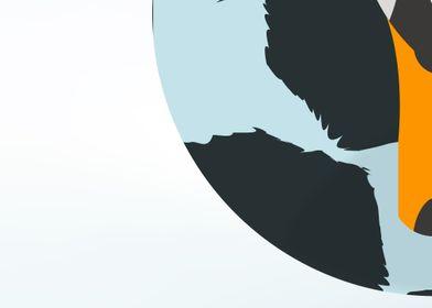 Abstract Swan bottom left