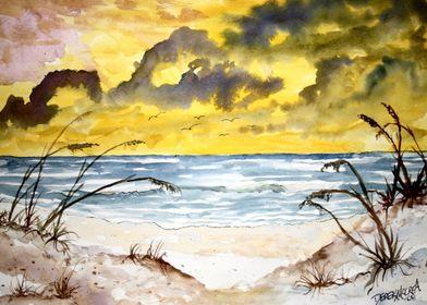 Abstract beach seascape