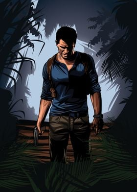 Uncharted 4 vector cover