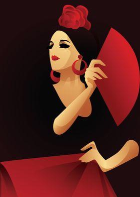 Flamenco with fan