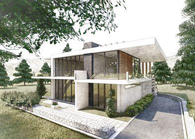 Modern Villa Sketch
