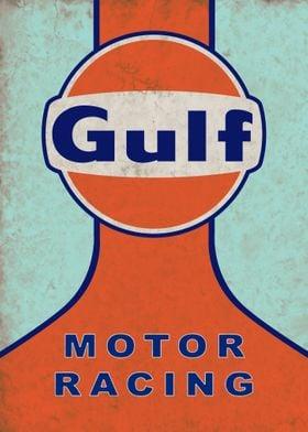 Gulf Motor Racing Sign