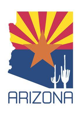 Arizona Silhouette Flag