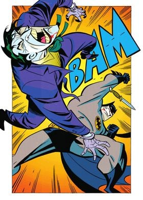 Bat punch by Bruce Timm