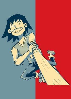 Rikido Sato Anime Manga Poster Print Metal Posters