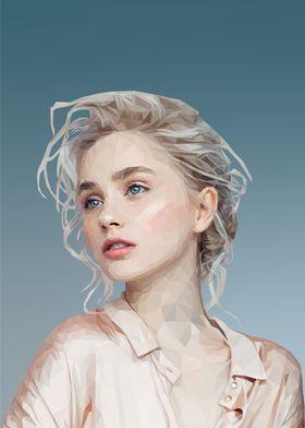Woman in Pastel