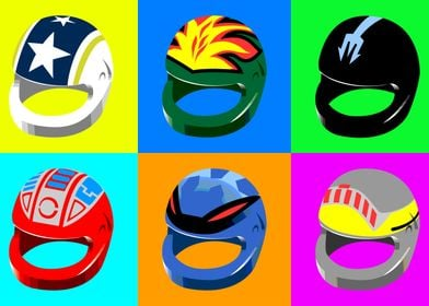 Pop Art Helmets 1