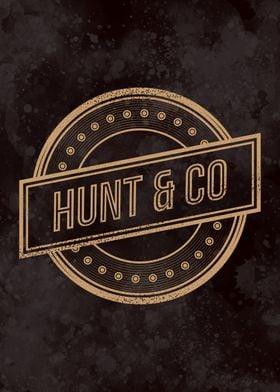 HUNT AND CO RETRO LOGO