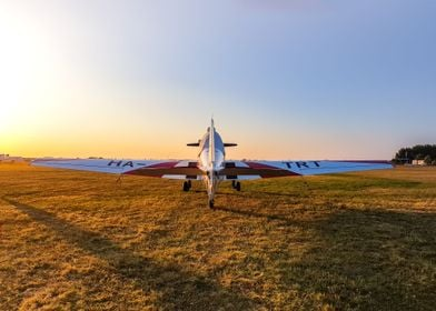 Zlin 326 airplane resting