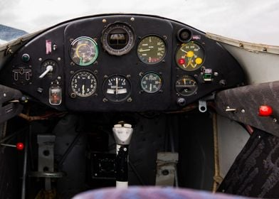 Zlin 326 Trener cockpit
