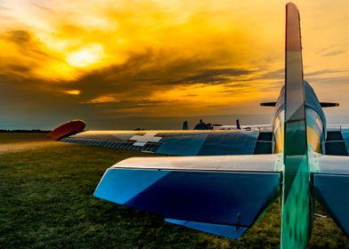 World War II painted plane