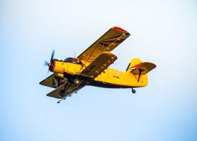 Antonov AN2 biplane flying