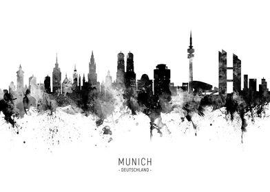 Munich Germany Skyline