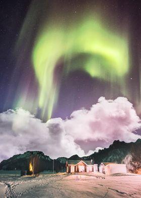 Aurora In The Winter