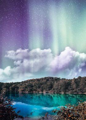Purple Northern Lights