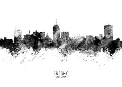 Fresno California Skyline