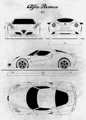 No002 Alfa Romeo 4C