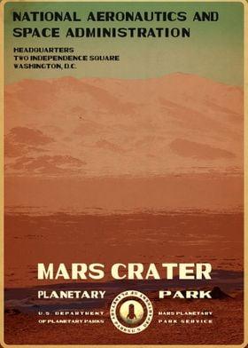 Mars Crater Mars