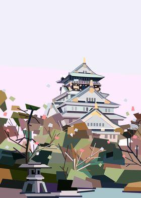 Osaka Castle Japan Osakajo