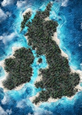 United Kingdom Map Island