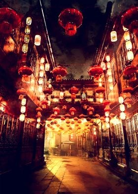 Japan Streets night lights