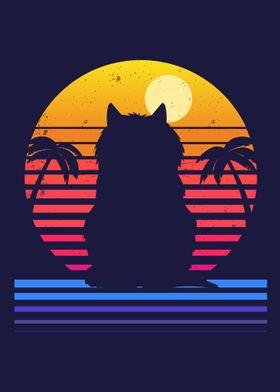 Island Cat Life Retro