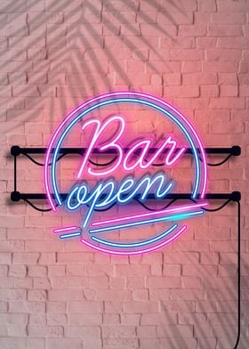 Neon Bar Open Decoration