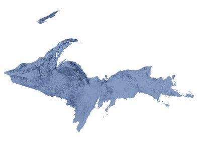 Michigan UP Terrain Map