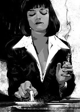 Pulp Fiction Mia BW
