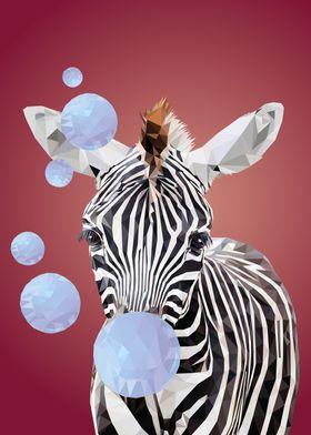 Zebra with Bubbles