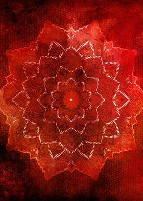Red Mandala flower