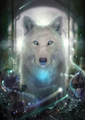 Lonewhite wolf