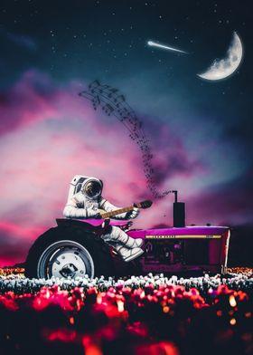 Astronaut ride tractor