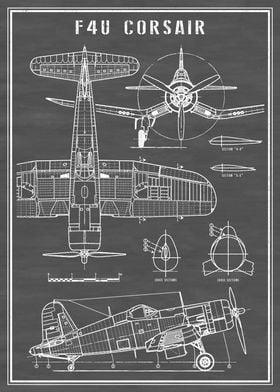 F4U Corsair Vintage Plane