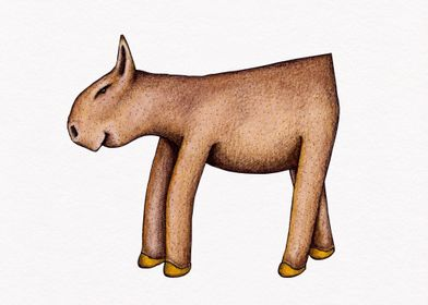 Kuh mit Ecke