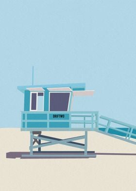 Venice Beach Lifeguard Hut