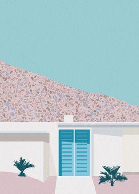 Palm Springs Blue Door