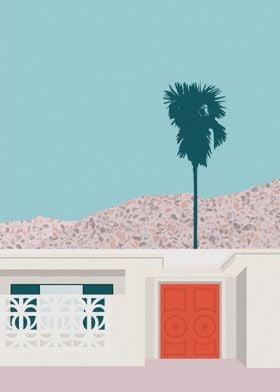 Palm Springs Orange Door
