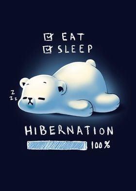 Cute Bear Hibernation