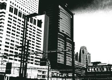 Abstract Shinjuku Skyline