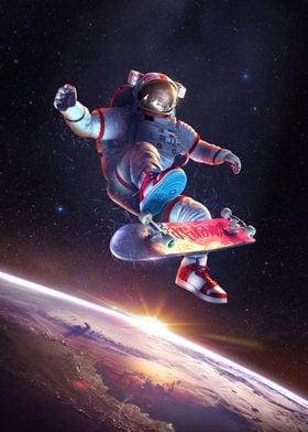 Astronaut Kickflip