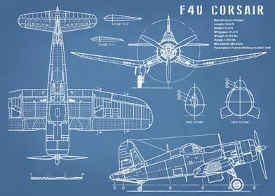 F4U Corsair Airplane Print