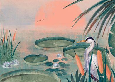 Blue Heron on Lake