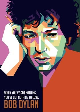 bob dylan with quote