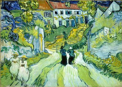 Street and Steps in Auvers